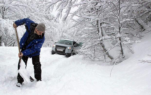 Дагестан засыпало снегом (видео)