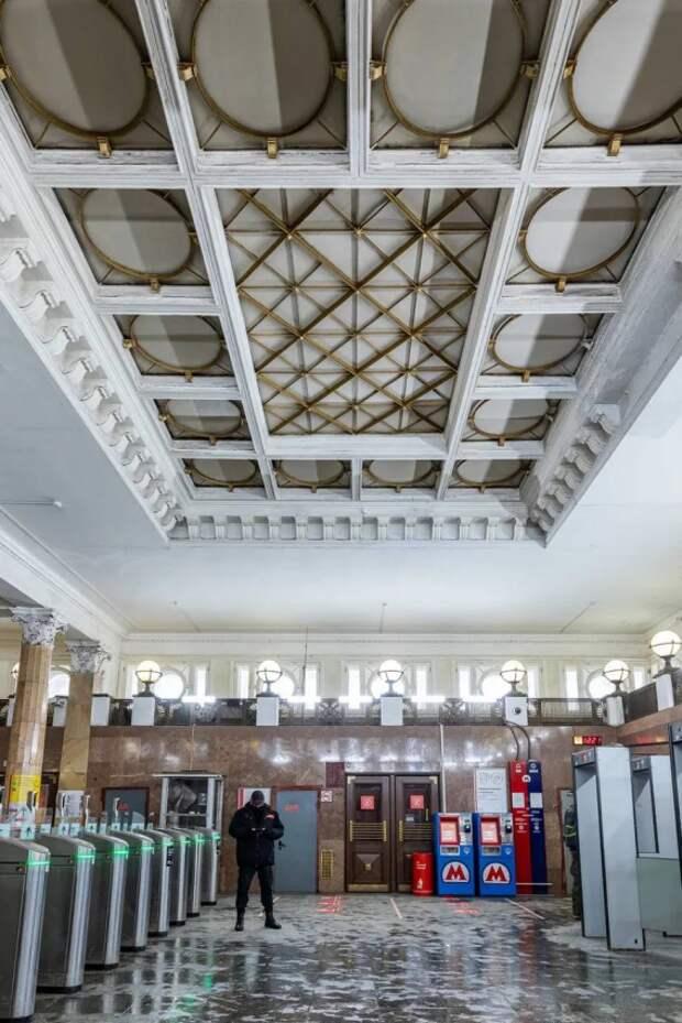 Южный вестибюль станции «Динамо» закроют на реставрацию до июня