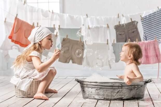 Что нужно учитывать при стирке детского белья