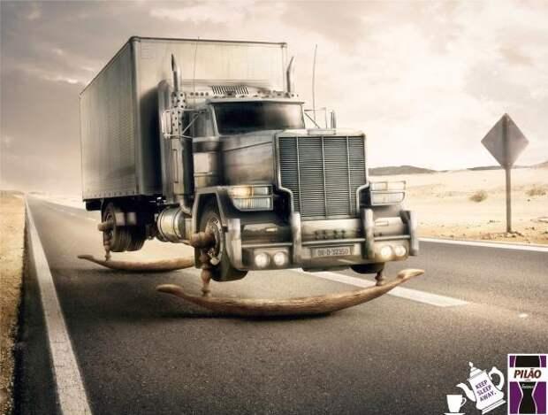 Pilão Intense Coffee: Truck, Cafe Pilao, Talent São Paulo, Sara Lee Corporation, Печатная реклама