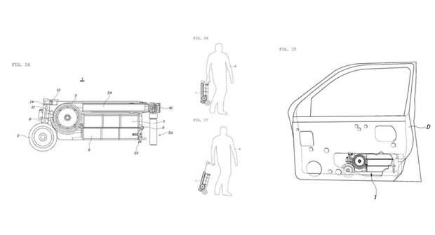 Компания Hyundai запатентовала электрический самокат в багажнике автомобиля