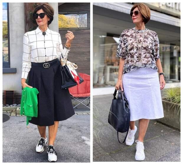 15 стильных образов – юбки, платья + кроссовки: Удобно, красиво и со вкусом
