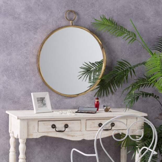 Dekoria.pl зеркало висит Old Gold
