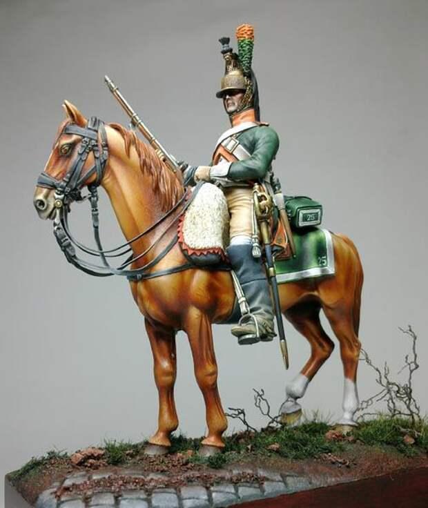 Всадники разных веков в миниатюре