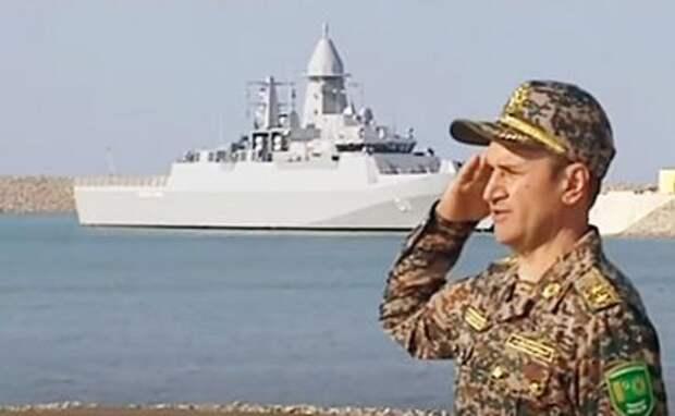 На фото: вошедший в состав ВМС Туркмении корвет Deniz Han турецкого проекта