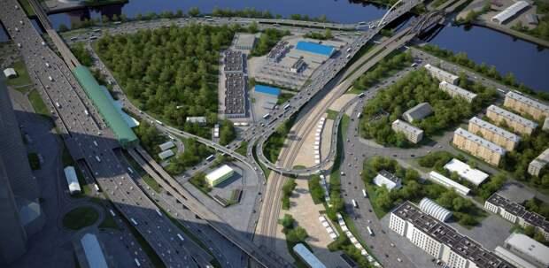 Завершается 1-й этап строительства развязки на пересечении Северного дублера Кутузовского проспекта и ТТК
