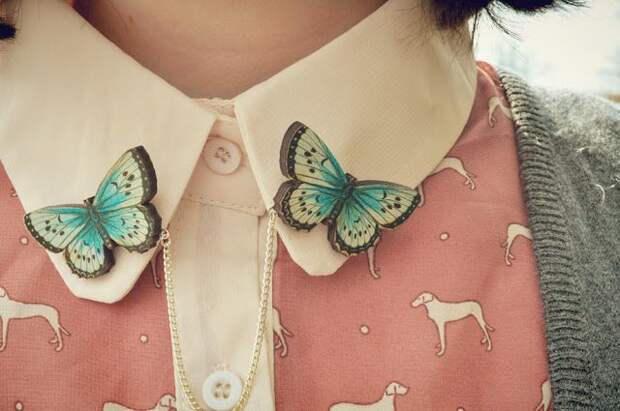 Красивые брошки, которые отлично украсят ваши рубашки