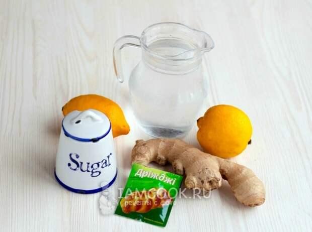 Ингредиенты для имбирного эля в домашних условиях