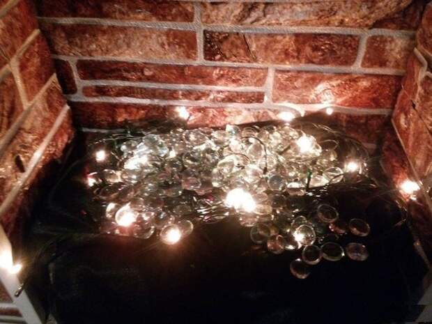 Новогодний камин своими руками