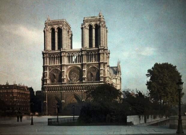 1923. Париж в цвете на фотографиях Жюля Жерве-Куртельмона  история, люди, фото