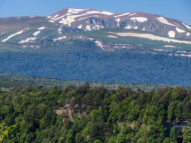 Вид на плато (нагорье) Лагонаки.