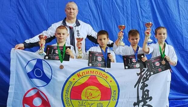 Четверо подольских спортсменов стали призерами первенства по карате в Дубне