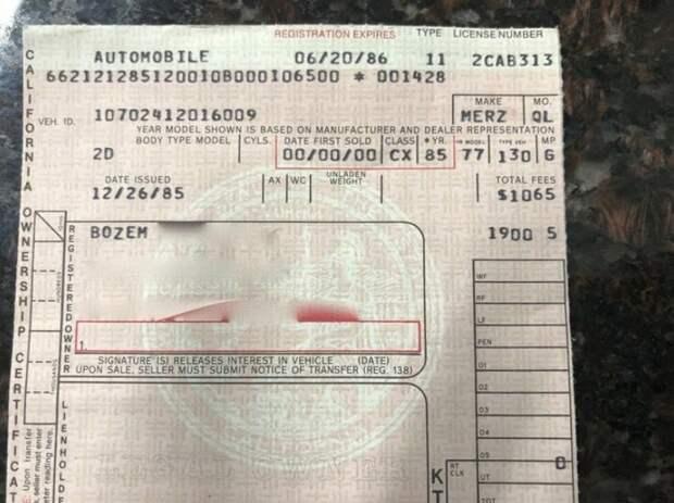 42 года в руках одной женщины! Mercedes 450 SLC AMG