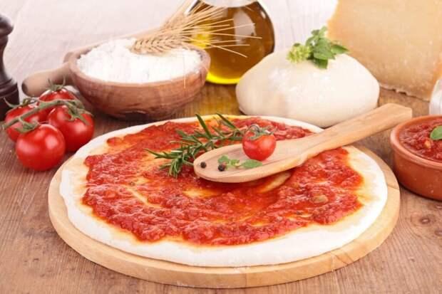 Постное тесто для пиццы