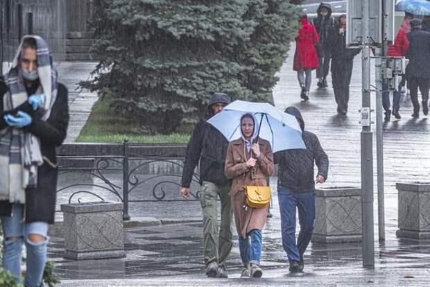 Синоптик Синенков предупредил москвичей о дожде и сильном ветре в пятницу