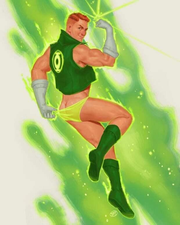 Супергерои в стиле пин-ап от художника Дэвида Таласки-Брауна