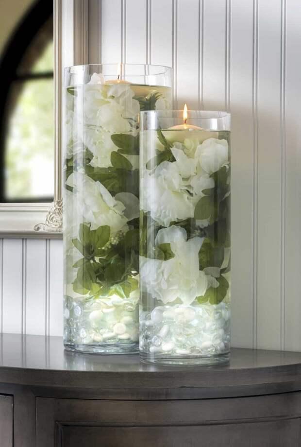 необычный праздничный декор из цветов