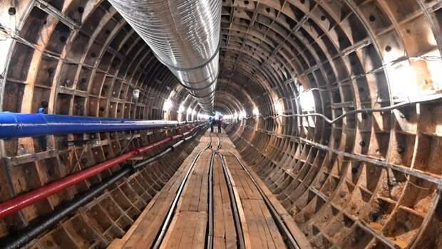 Почти половина перегонного тоннеля от станции «Улица 800-летия Москвы» до «Лианозово» уже готова