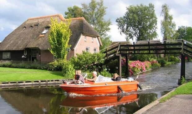 Гитхорн: удивительная голландская деревня, в которой нетдорог