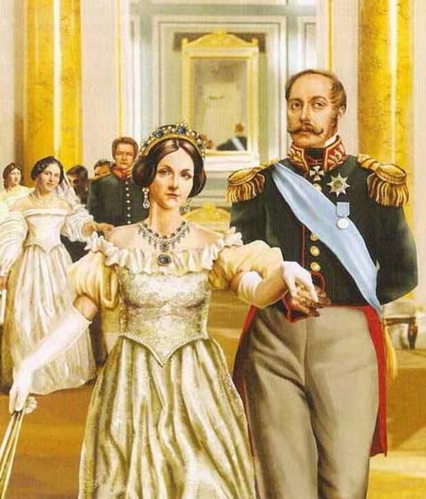Александра Федоровна и Николай Павлович. <br>