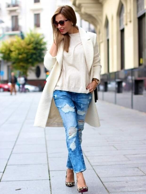 Женщина в джинсах с низкой посадкой. /Фото: moda-styl.ru