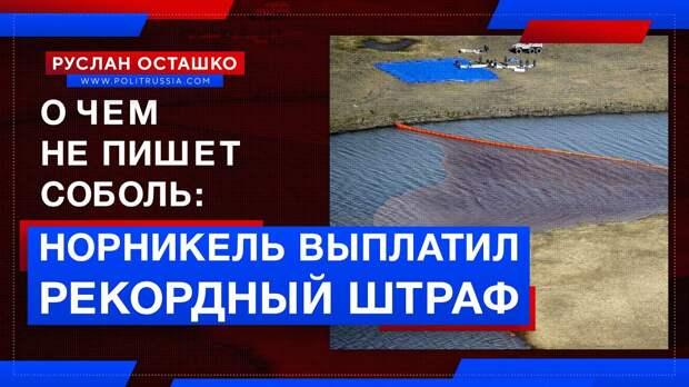 «Норникель» выплатил рекордный штраф за аварию, а Соболь села в лужу