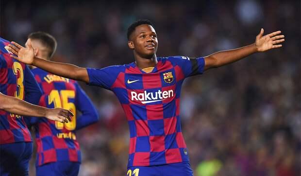 16-летний Фати станет самым молодым футболистом, сыгравшим за«Барселону» вЛиге чемпионов
