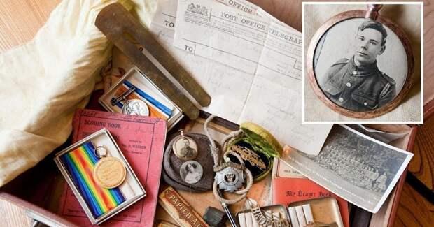 Удивительная находка на чердаке: чемодан с личными вещами солдата Первой мировой войны
