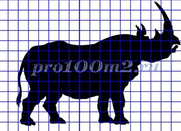 Силуэт носорога