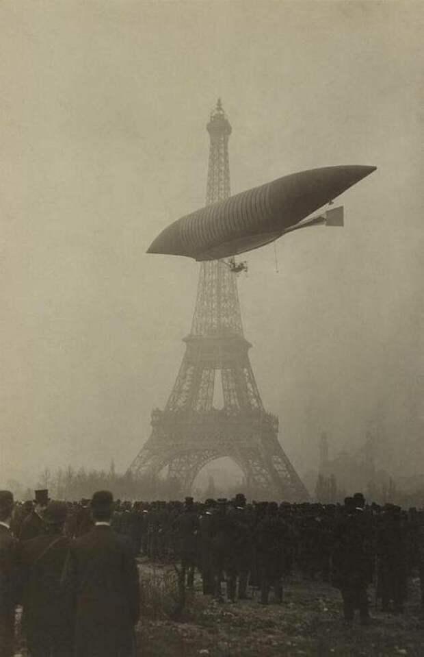 "Дирижабль Анри Жюльо « ""The Yellow"" » в Париже, ноябрь 1903 г.  история, люди, фото"