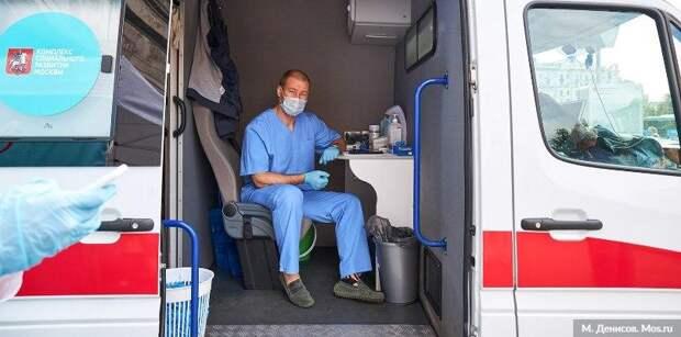 В Москве мобильные точки вакцинации от гриппа стали доступнее