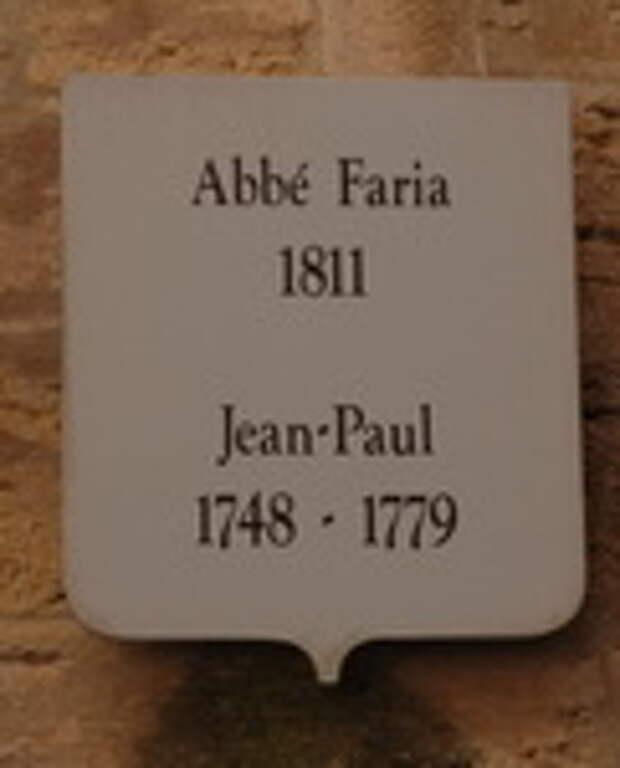 Табличка над входом в камеру аббата Фариа