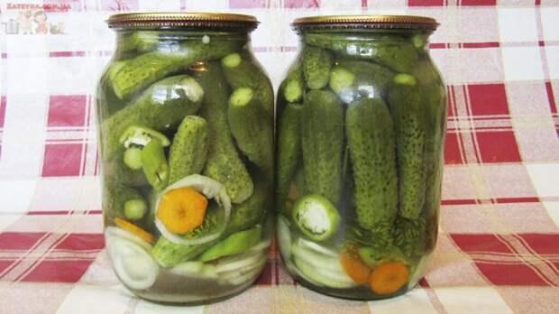 Огурцы с овощами на зиму