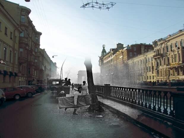 Ленинград 1941-2009 Канал Грибоедова блокада, ленинград, победа