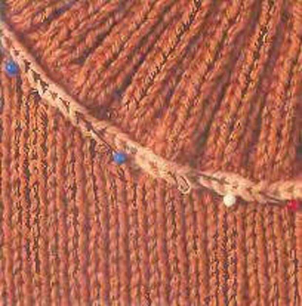 Вязание спицами для начинающих. Вшивной воротник гольф