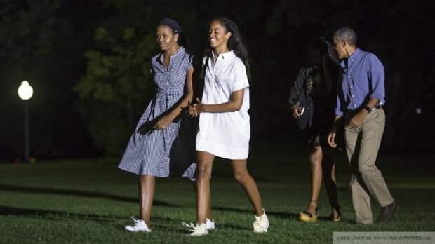 Дочери Барака Обамы участвовали в протестах после смерти Флойда