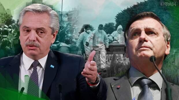 «Армия заставит сидеть дома»: Болсонару раскритиковал Аргентину борьбу с коронавирусом