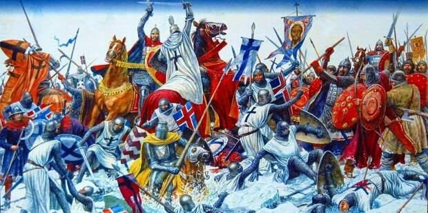 Ледовое побоище - самый известный эпизод католической экспансии, будет чуть позже, но подобных стычек было множество и ранее