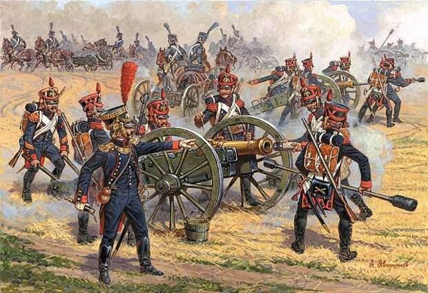 Артиллерия Великой армии Наполеона: тактика артиллерийского боя