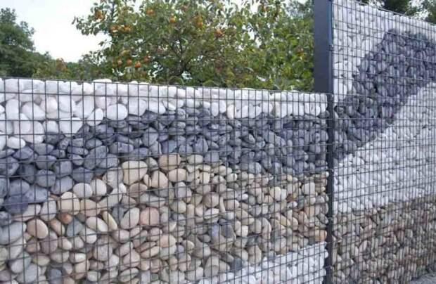 Сочетание камней разных цветов придает габиону большую декоративность. /Фото: thewashingtonnote.com