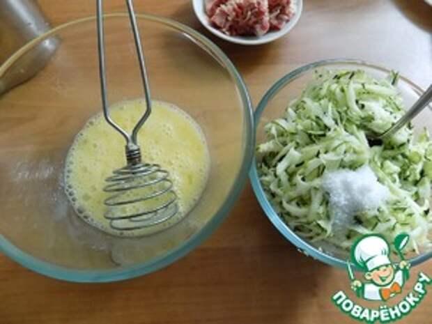 Кабачковые кексы с беконом и луком ингредиенты