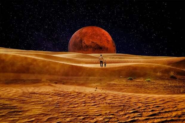 Дома на Марсе предложили строить из крови и слез