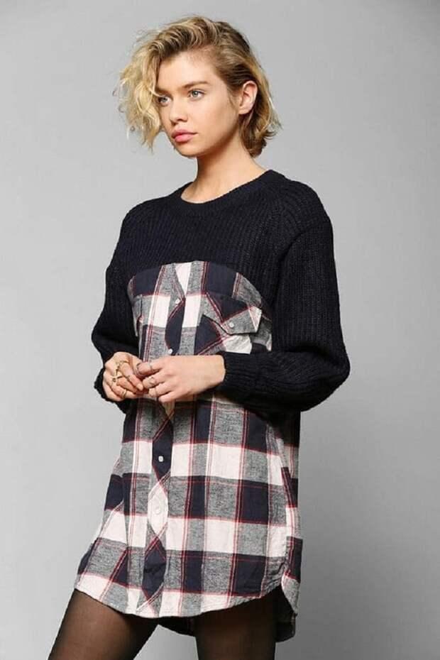 декор свитера шнуром