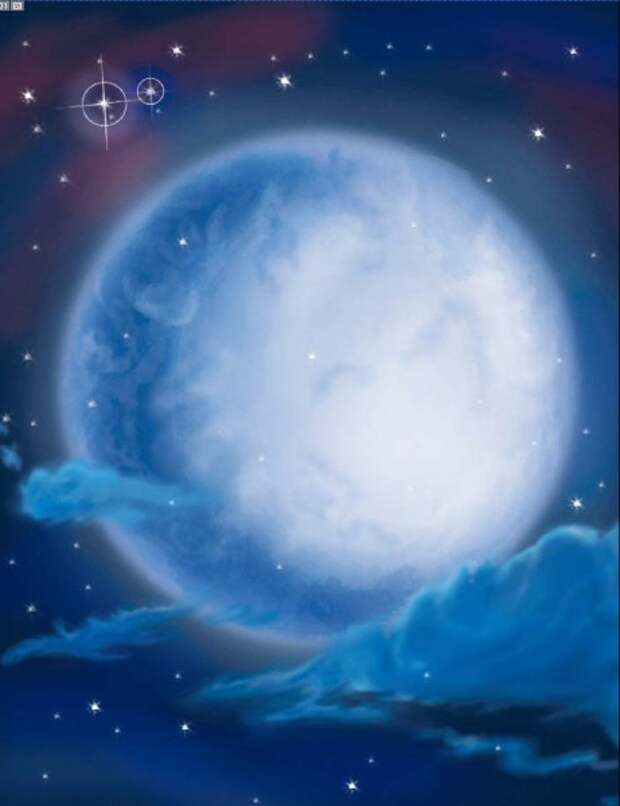 просто луна