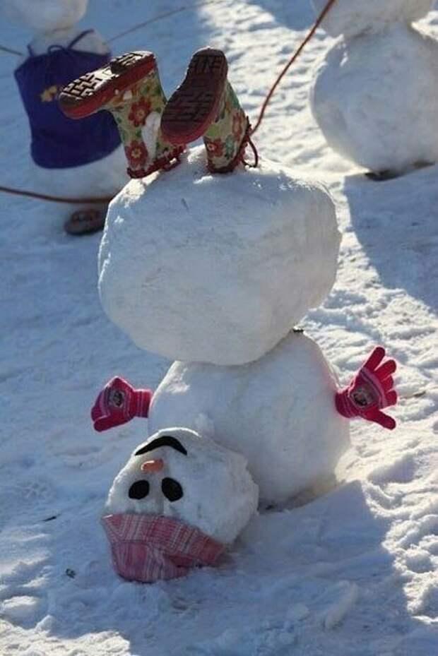 Перевернутый снеговик