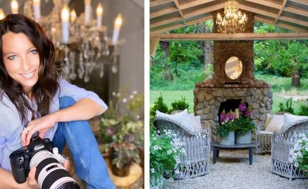 Слева: Кортни; справа: беседка с камином. Для статьи использованы фотографии из Инстаграм-аккаунта Кортни @frenchcountrycottage и сайта frenchcountrycottage.net