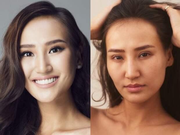 Участницы «Мисс Вселенная» с макияжем и без (13 фото)