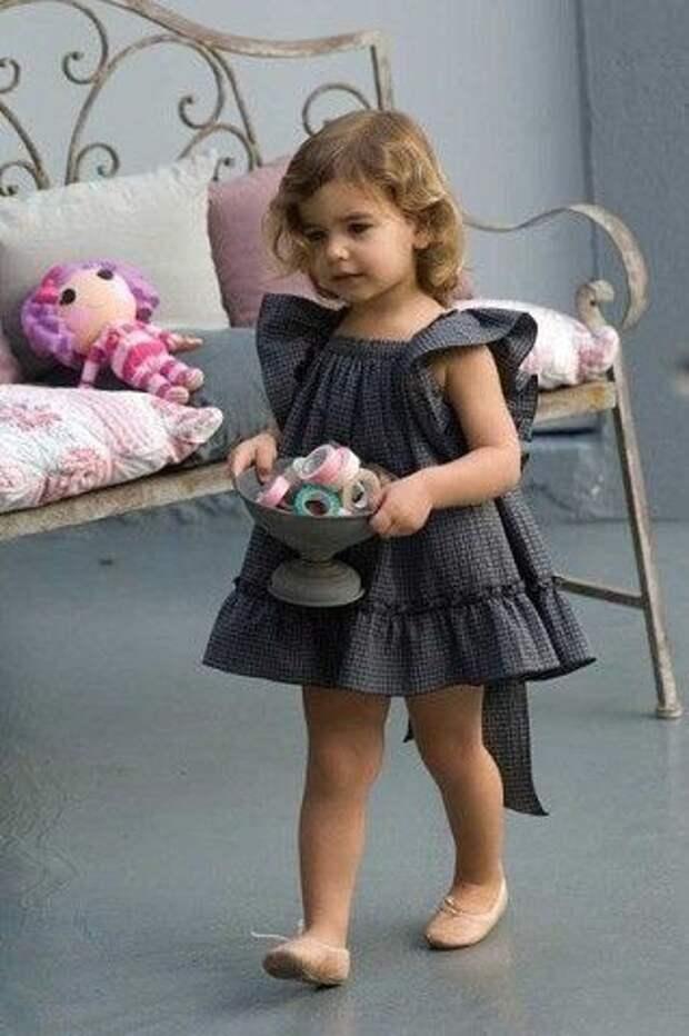 Выкройки детского ретро платья