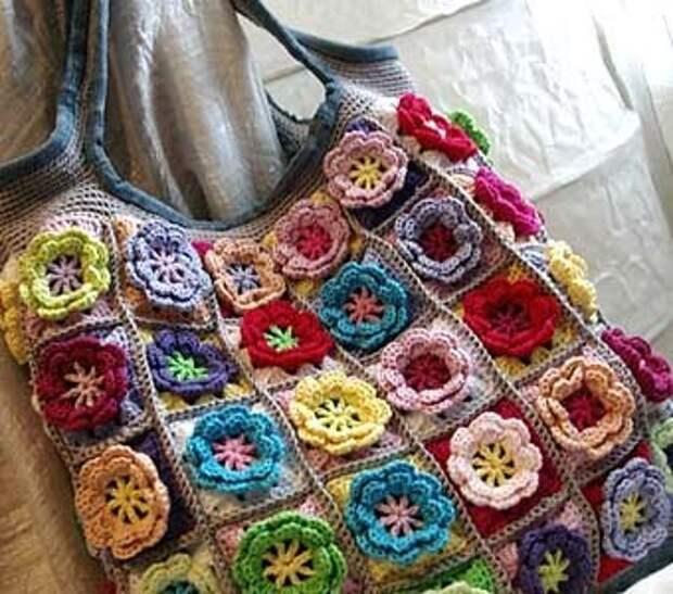 вязанная сумка своими руками