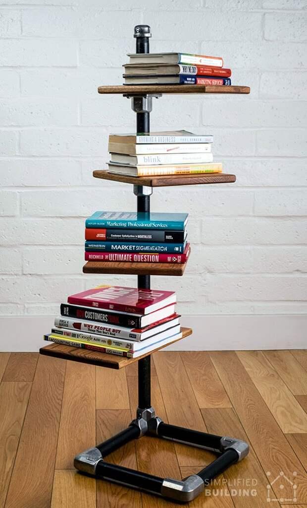 Стеллаж для книг трубопрокатный